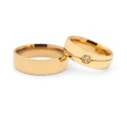 "Golden wedding rings with diamonds ""VKA 120"""