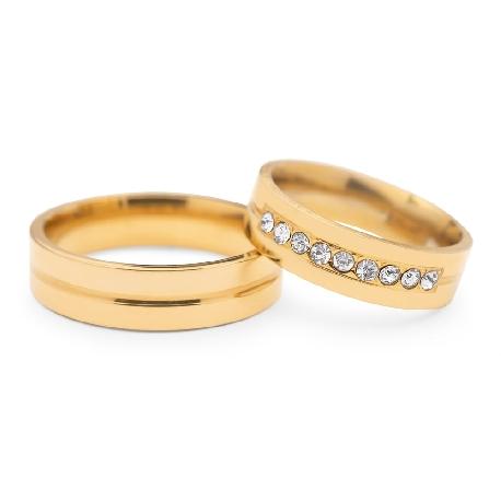 """Teemantidega abielusõrmused """"VMA 116"""""""