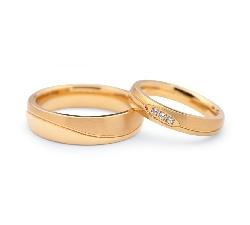 """Kullast abielusõrmused """"VKA 106"""""""