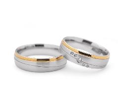 """Teemantidega abielusõrmused """"VMA 103"""""""