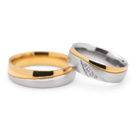 """Teemantidega abielusõrmused """"VKA 102"""""""
