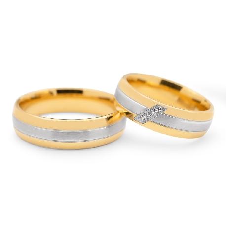 """Teemantidega abielusõrmused """"VKA 096"""""""