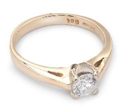 """Sužadėtuvių žiedas su Briliantu """"Dievaitė 24"""""""