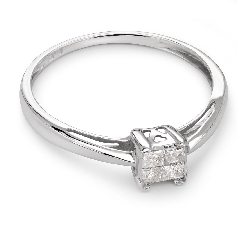 "Engagement ring with diamonds ""Princesses 25"""
