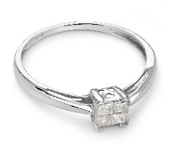 """Teemantidega kihlasõrmus """"Printsessid 25"""""""