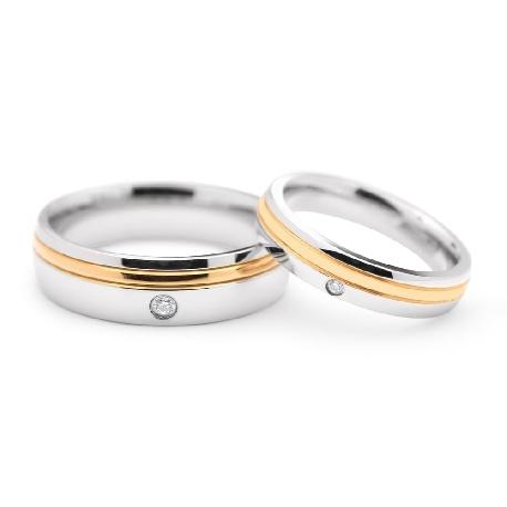 """Kullast abielusõrmused """"VKA 323"""""""