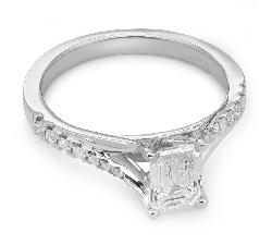 """Teemantidega kihlasõrmus """"Graatsilisus 34"""""""
