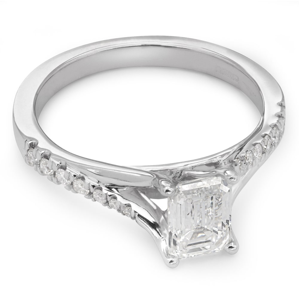 """Engagement ring with diamonds """"Grace 34"""""""