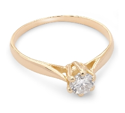 """Auksinis žiedas su Briliantu """"Tyroji 17"""""""