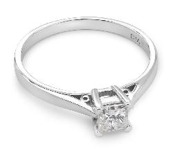 """Sužadėtuvių žiedas su Deimantu """"Vienintelė 19"""""""
