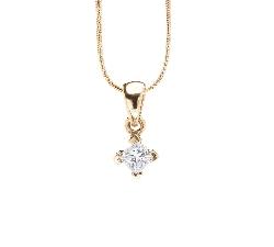 "Gold pendant with diamond ""Princess 14"""