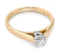 """Sužadėtuvių žiedas su Briliantu """"Dievaitė 25"""""""