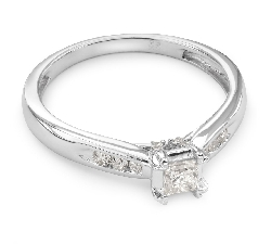 "Engagement ring with diamonds ""Grace 27"""