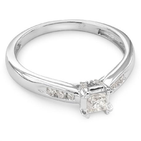 """Teemantidega kihlasõrmus """"Graatsilisus 27"""""""