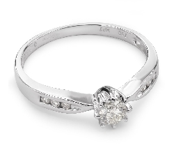 """Engagment ring with brilliants """"Grace 38"""""""