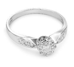 """Sužadėtuvių žiedas su Briliantais """"Mylimasis 20"""""""