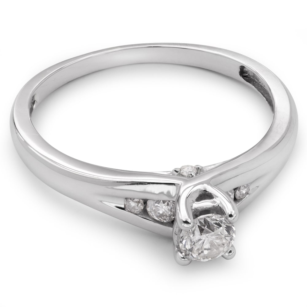 "Engagment ring with brilliants ""Intertwined destinies 15"""
