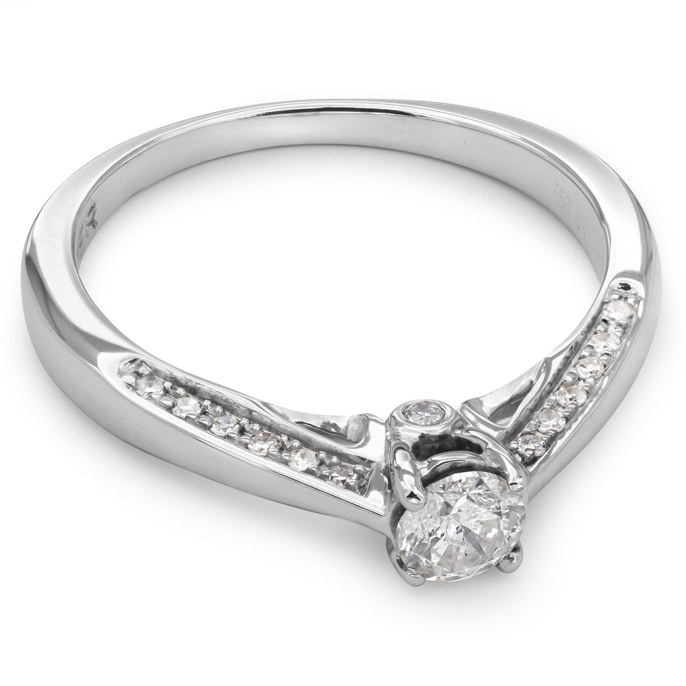 """Engagment ring with brilliants """"Grace 46"""""""