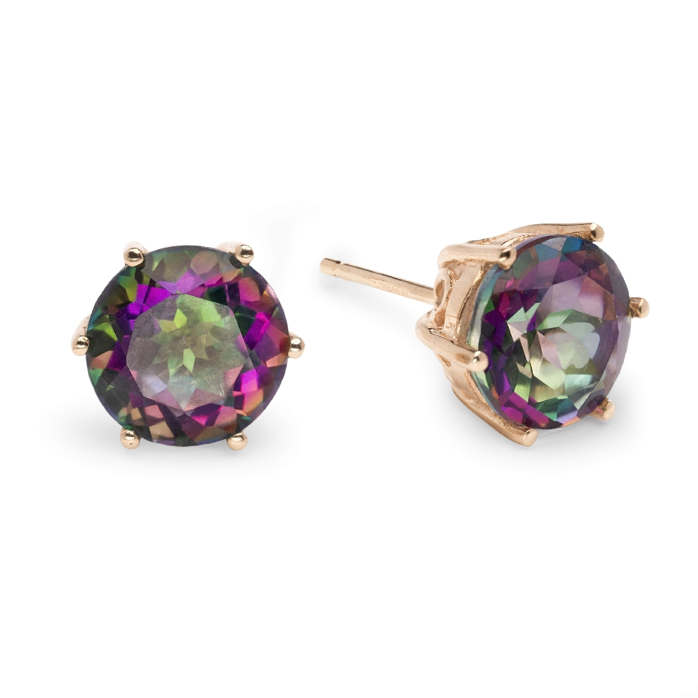 """Gold earrings with gemstones """"Colors 20"""""""