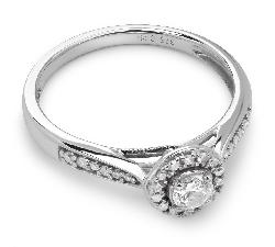 """Sužadėtuvių žiedas su Briliantais """"Briliantų Puokštė 19"""""""