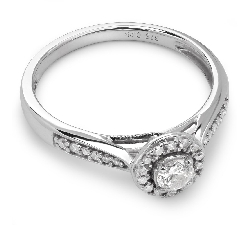 """Engagment ring with brilliants """"Bouquet of diamonds 19"""""""