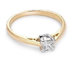 """Sužadėtuvių žiedas su Deimantu """"Princesė 18"""""""