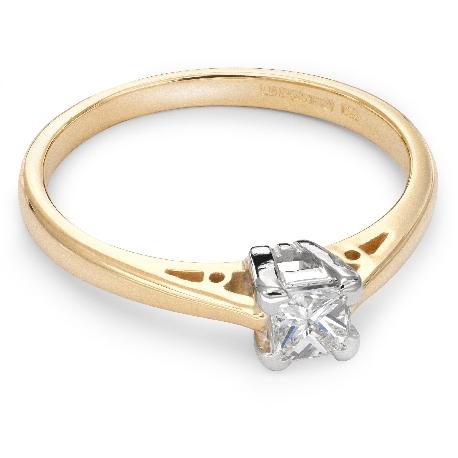 """Teemantiga kihlasõrmus """"Printsess 18"""""""