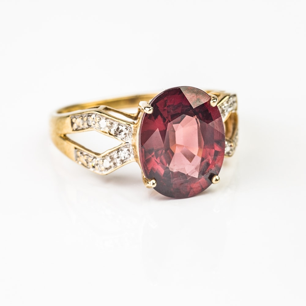 """Gold ring with gemstones """"Colors 55"""""""