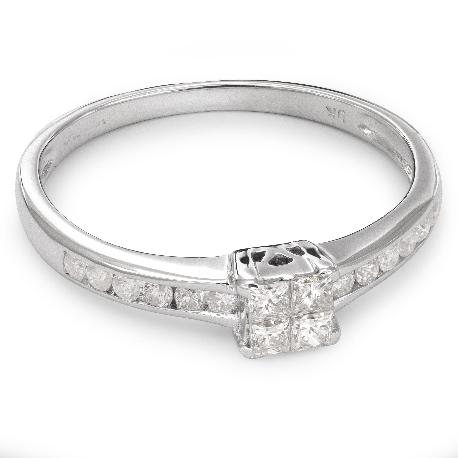 """Teemantidega kihlasõrmus """"Printsessid 30"""""""
