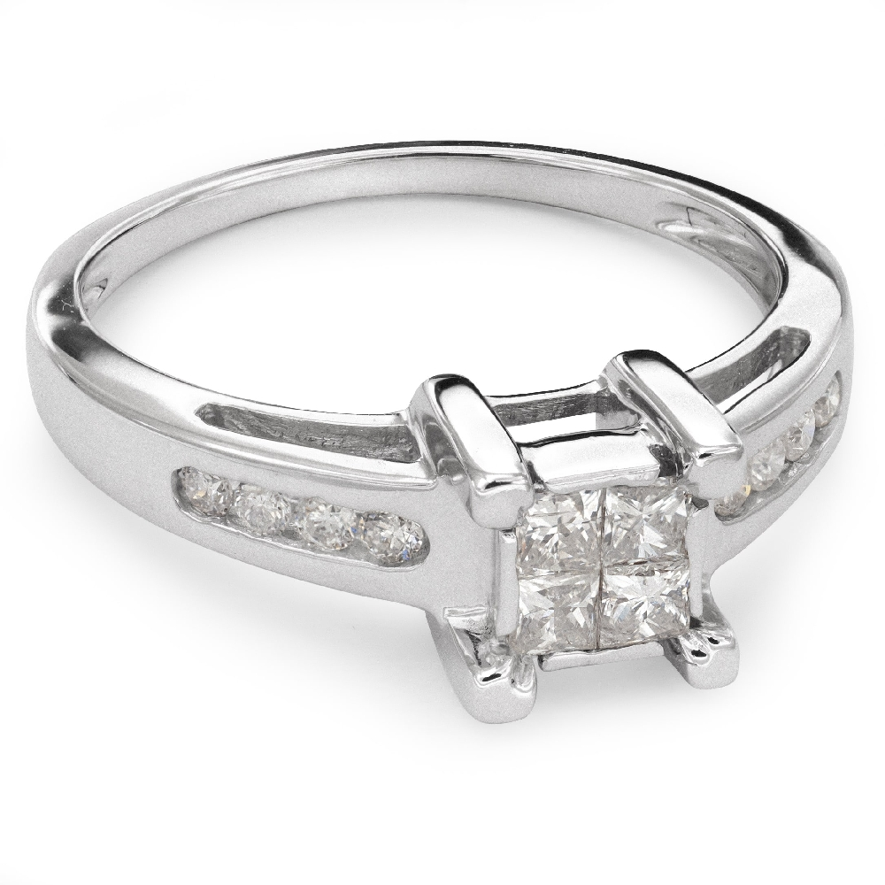 """Engagement ring with diamonds """"Princesses 31"""""""