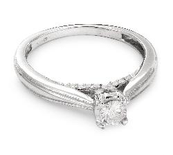 """Sužadėtuvių žiedas su Briliantais """"Grakštumas 55"""""""