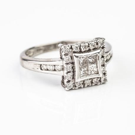 """Teemantidega kuldsõrmus """"Printsessid 17"""""""