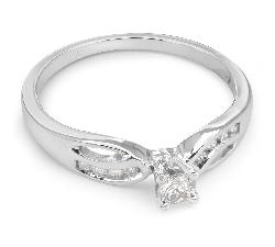 """Sužadėtuvių žiedas su Deimantais """"Gyvybė 18"""""""