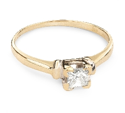 """Sužadėtuvių žiedas su Deimantu """"Princesė 19"""""""