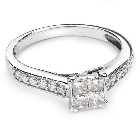 """Teemantidega kihlasõrmus """"Printsessid 33"""""""