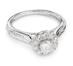 """Auksinis žiedas su Briliantais """"Briliantų Puokštė 26"""""""