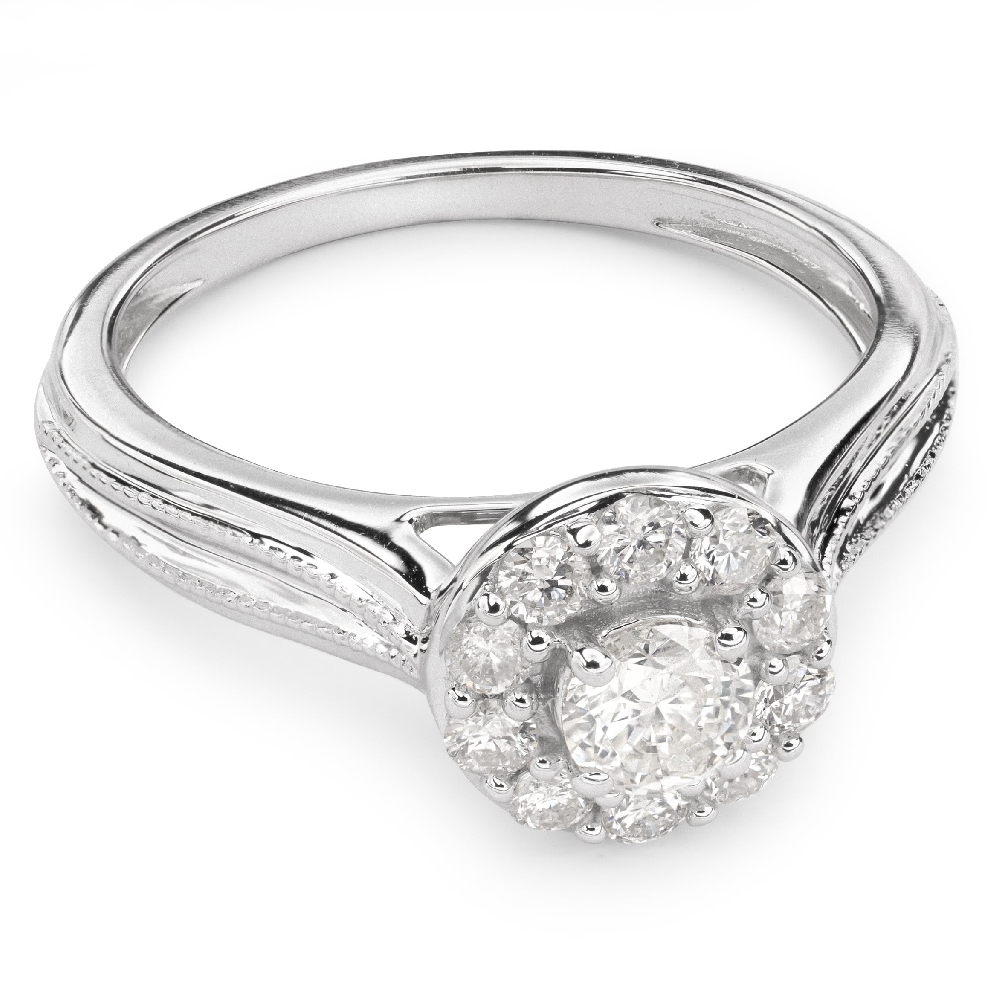 "Engagment ring with brilliants ""Bouquet of diamonds 26"""