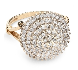 "Gold ring with brilliants ""Bouquet of diamonds 25"""