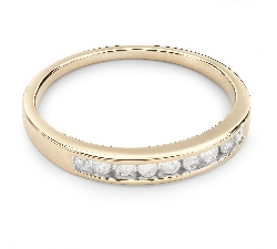"Gold ring with brilliants ""Diamond strip 19"""