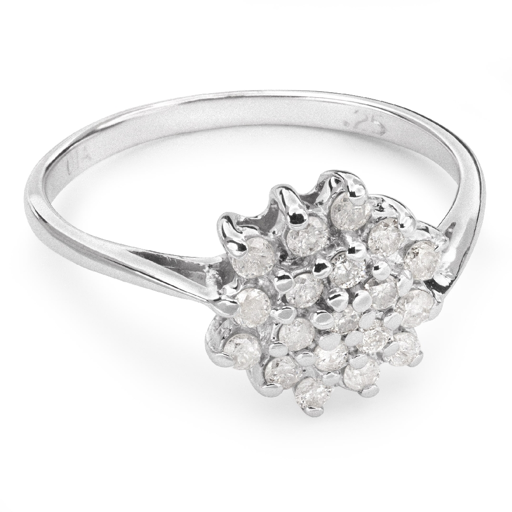 """Gold ring with brilliants """"Diamond flower 21"""""""