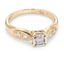 """Sužadėtuvių žiedas su Briliantais """"Mylimasis 38"""""""