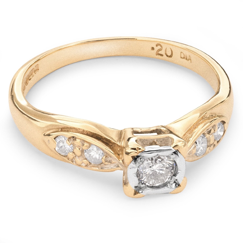 """Engagment ring with brilliants """"Lover 38"""""""