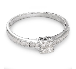 "Engagement ring with diamonds ""Princesses 35"""