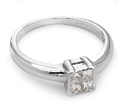 "Engagement ring with diamond ""Princesses 36"""