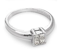 """Sužadėtuvių žiedas su Deimantais """"Princesės 36"""""""