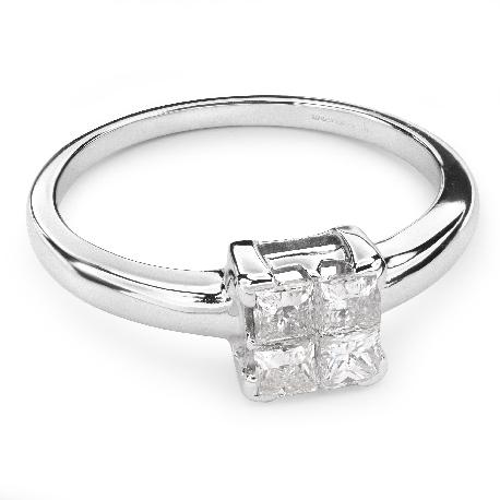 """Teemantidega kihlasõrmus """"Printsessid 37"""""""