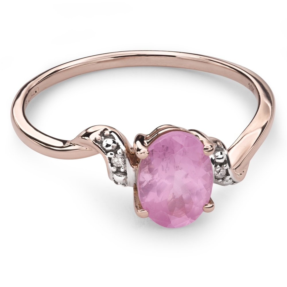 """Gold ring with gemstones """"Colors 31"""""""