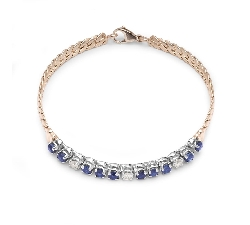 "Gold bracelet with gemstones ""Sapphire 22"""