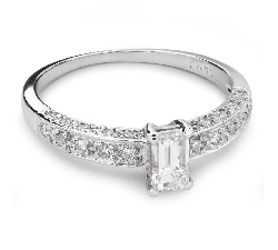 "Engagement ring with diamonds ""Crown 16"""