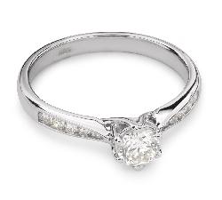 """Sužadėtuvių žiedas su Briliantais """"Grakštumas 65"""""""
